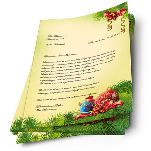 Motif Letter Paper! CHRISTMAS DECORATIONS