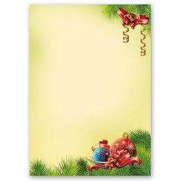 Motif Letter Paper! CHRISTMAS DECORATIONS 20 sheets DIN A4