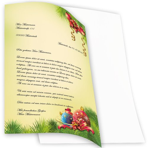 Motif Letter Paper-Sets CHRISTMAS DECORATIONS