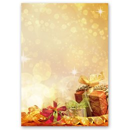 Motif Letter Paper! CHRISTMAS GIFTS 20 sheets DIN A4