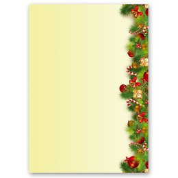 Motif Letter Paper! CHRISTMAS GREETINGS 20 sheets DIN A4