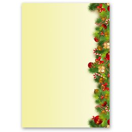 Motif Letter Paper! CHRISTMAS GREETINGS 100 sheets DIN A5