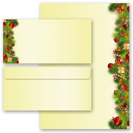 40-pc. Complete Motif Letter Paper-Set CHRISTMAS GREETINGS