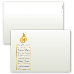 10 patterned envelopes CHRISTMAS WISHES in C6 format...