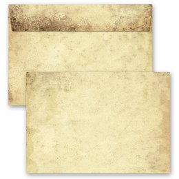 25 patterned envelopes OLD PAPER in C6 format (windowless)