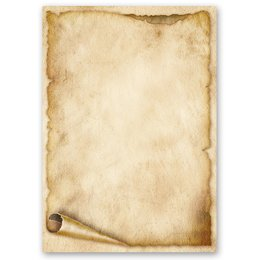 Motif Letter Paper! OLD PAPER ROLL 20 sheets DIN A4