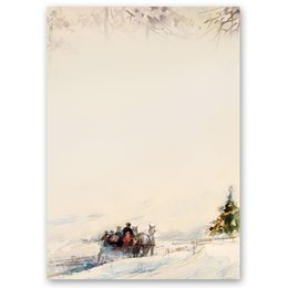 Motif Letter Paper! CARRIAGE IN FOREST 20 sheets DIN A4