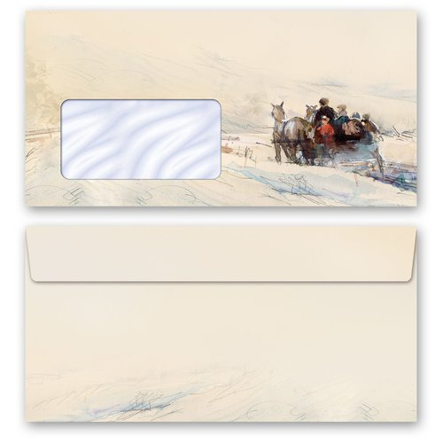 Motif envelopes! CARRIAGE IN FOREST