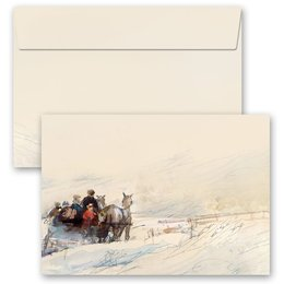 10 patterned envelopes CARRIAGE IN FOREST in C6 format...