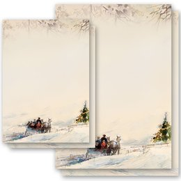 Motif Letter Paper! CARRIAGE IN FOREST