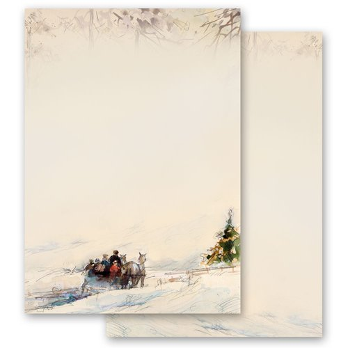 Motif Letter Paper-Sets CARRIAGE IN FOREST