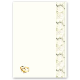 Motif Letter Paper! OUR WEDDING 20 sheets DIN A4
