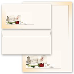 Motif Letter Paper-Set WE ARE GETTING MARRIED