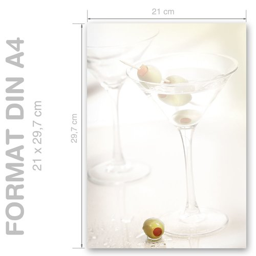 Motif Letter Paper! COCKTAIL GLASSES