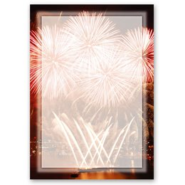 Motif Letter Paper! FIREWORKS AT THE PORT
