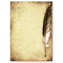 Motif Letter Paper! QUILL ON OLD PAPER 50 sheets DIN A5
