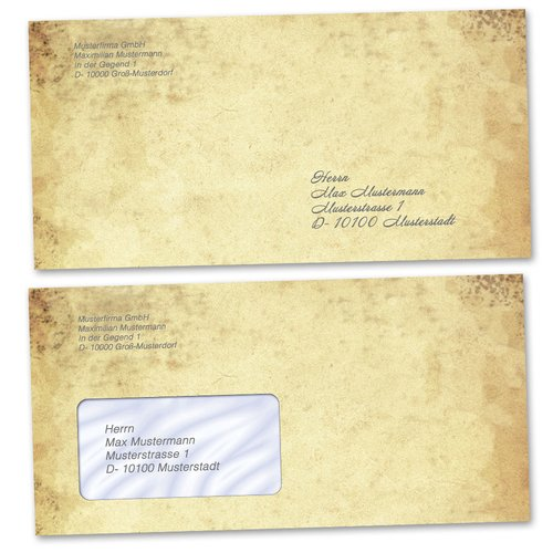 Motif Letter Paper-Sets QUILL ON OLD PAPER