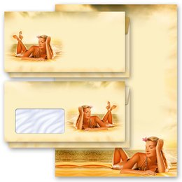Motif Letter Paper-Sets RELAXING AT THE LAKE