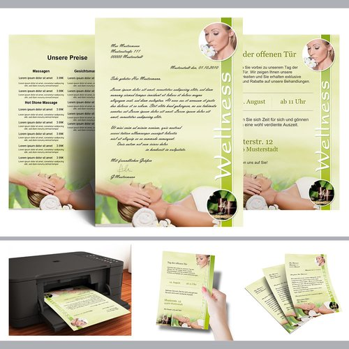Briefpapier WELLNESS & BEAUTY - DIN A4 Format 100 Blatt