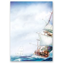 Motif Letter Paper! ON THE SEA 50 sheets DIN A4
