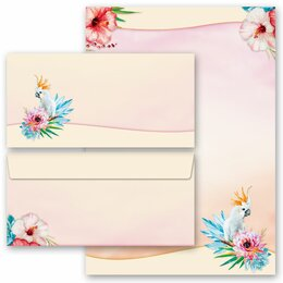 20-pc. Complete Motif Letter Paper-Set COCKATOO