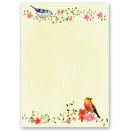 Motif Letter Paper! BIRDS CHIRPING 20 sheets DIN A4