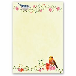 Motif Letter Paper! BIRDS CHIRPING 50 sheets DIN A5