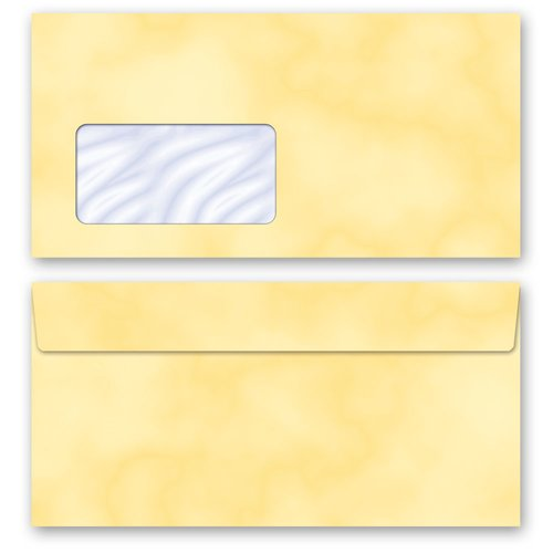 Motif Letter Paper-Set MARBLE YELLOW
