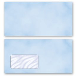 High-quality envelopes! MARBLE BLUE