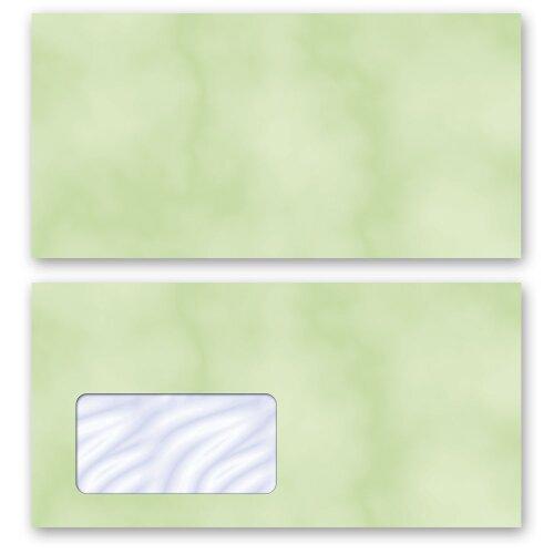DIN C6 Türkisblau 50 Stück Briefumschlag Farbverlauf