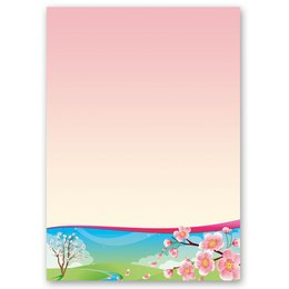 Motif Letter Paper! FOUR SEASONS - SPRING 20 sheets DIN A4