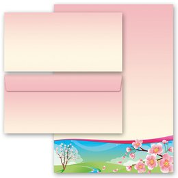 Motif Letter Paper-Sets FOUR SEASONS - SPRING