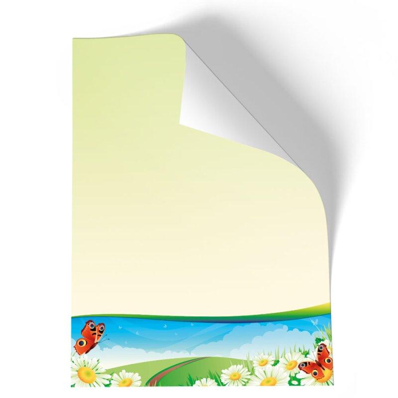 briefpapier jahreszeiten  sommer vier jahreszeiten