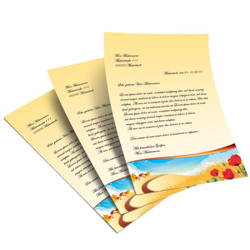 briefpapier vier jahreszeiten  herbst jahreszeiten