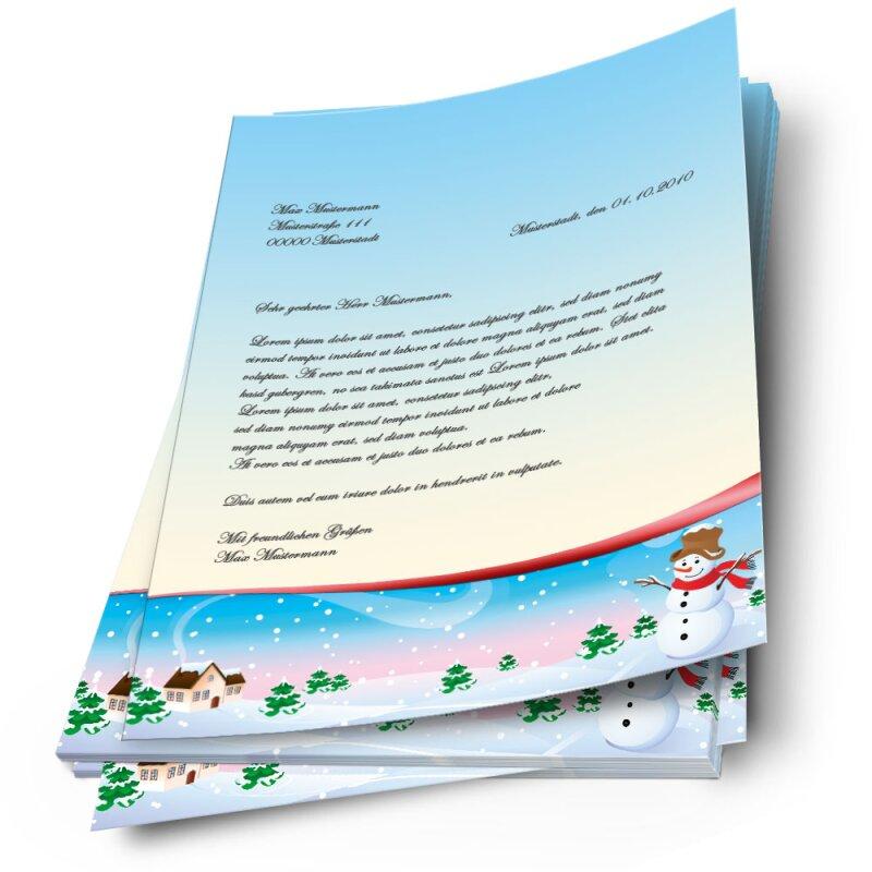 briefpapier vier jahreszeiten  winter jahreszeiten