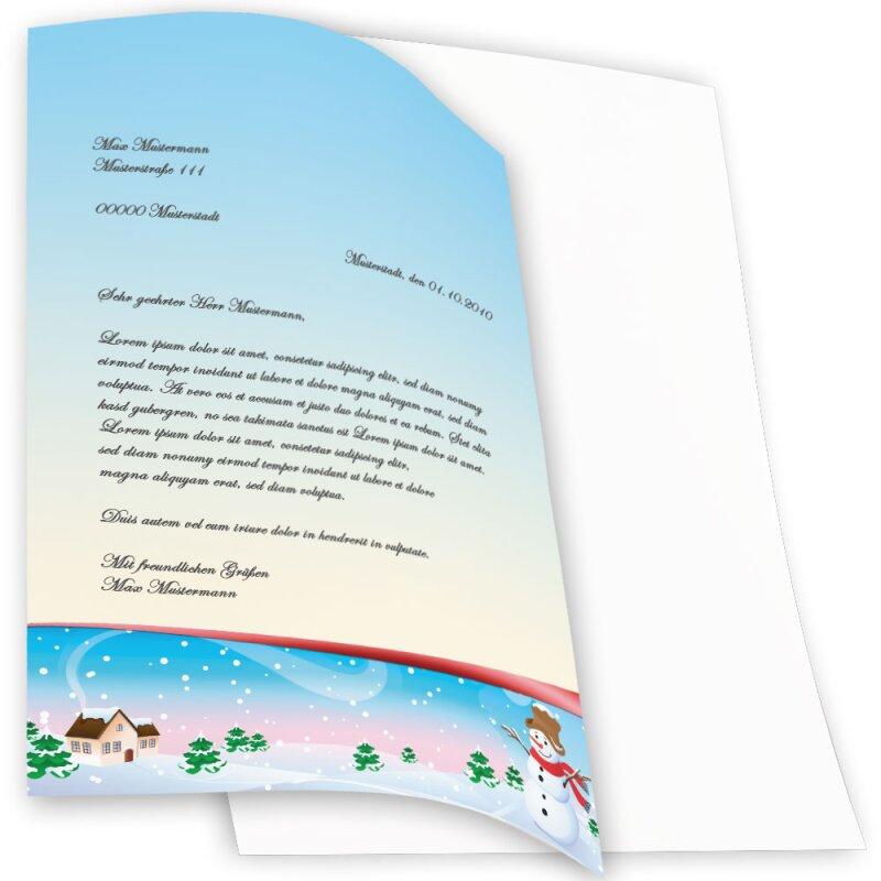 briefpapier jahreszeiten  winter vier jahreszeiten