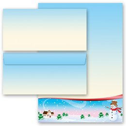 20-pc. Complete Motif Letter Paper-Set FOUR SEASONS - WINTER