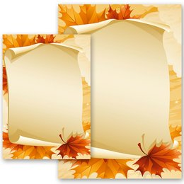Motif Letter Paper! AUTUMN LEAVES