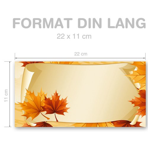 Motif envelopes! AUTUMN LEAVES
