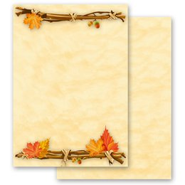 Motif Letter Paper! GOLDEN AUTUMN 20 sheets DIN A4