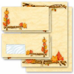 Motiv-Briefpapier-Sets HERBSTGOLD