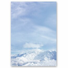 Motif Letter Paper! MOUNTAINS IN THE SNOW 50 sheets DIN A4