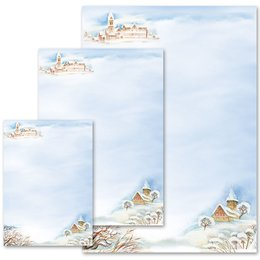 Briefpapier WINTERLANDSCHAFT