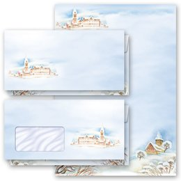 Briefpapier-Sets WINTERLANDSCHAFT