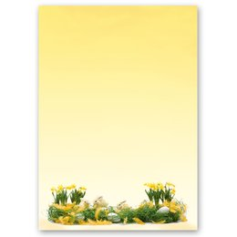 Motif Letter Paper! EASTER GREETINGS 20 sheets DIN A4