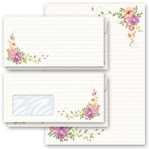 ohne Fenster Set Motiv-Briefpapier-Set BLUMENBRIEF 40-tlg DL