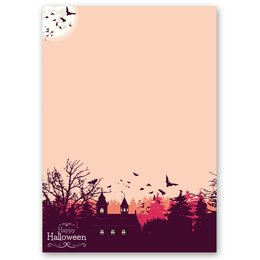Motif Letter Paper! HAPPY HALLOWEEN 20 sheets DIN A4