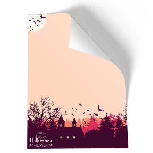 Briefpapier HAPPY HALLOWEEN - DIN A5 Format 50 Blatt