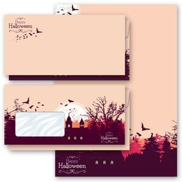 Motif Letter Paper-Sets HAPPY HALLOWEEN Autumn motif