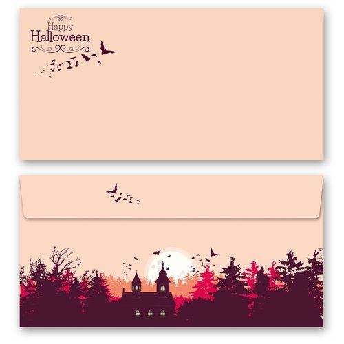 Briefpapier Set HAPPY HALLOWEEN - 100-tlg. DL (ohne Fenster)
